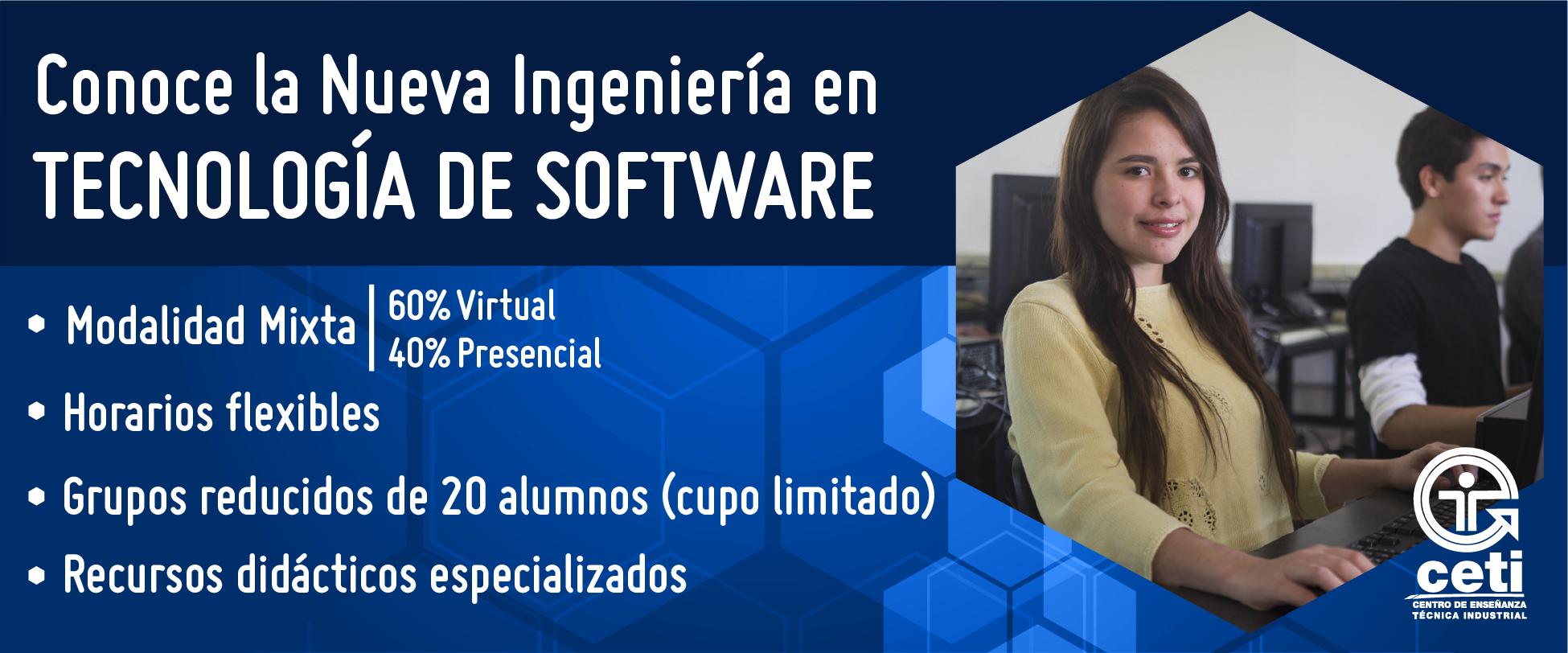 Es tu oportunidad nueva Ing. en Tecnología de Software 2020