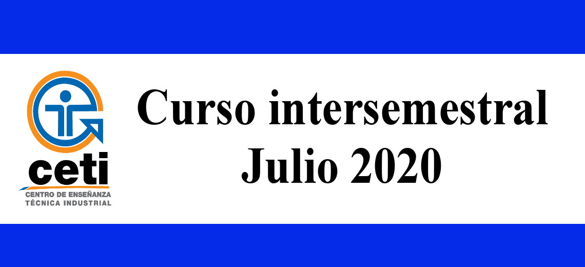 Curso intersemestral Julio 2020