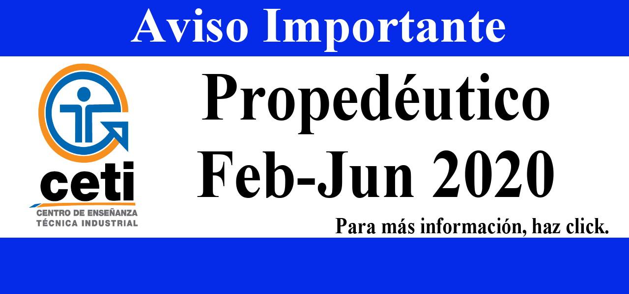 Aviso Propedéutico Feb-Jun 2020
