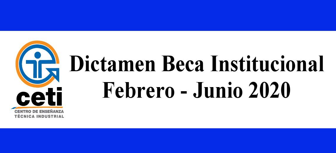 Dictamen Beca Institucional Feb-Jun 2020