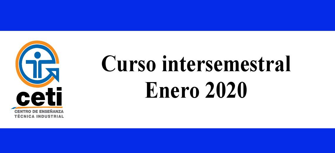 Oferta Intersemestral Enero 2020