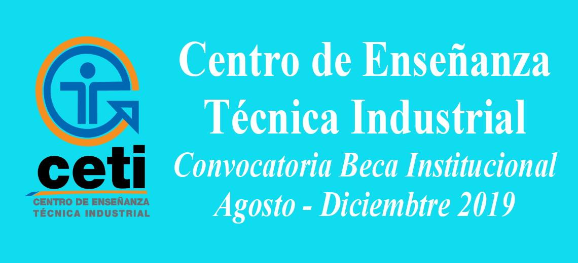 Convocatoria Beca Institucional Ago-Dic 2019