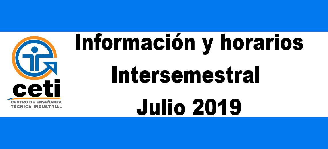 Intersemestral Julio 2019