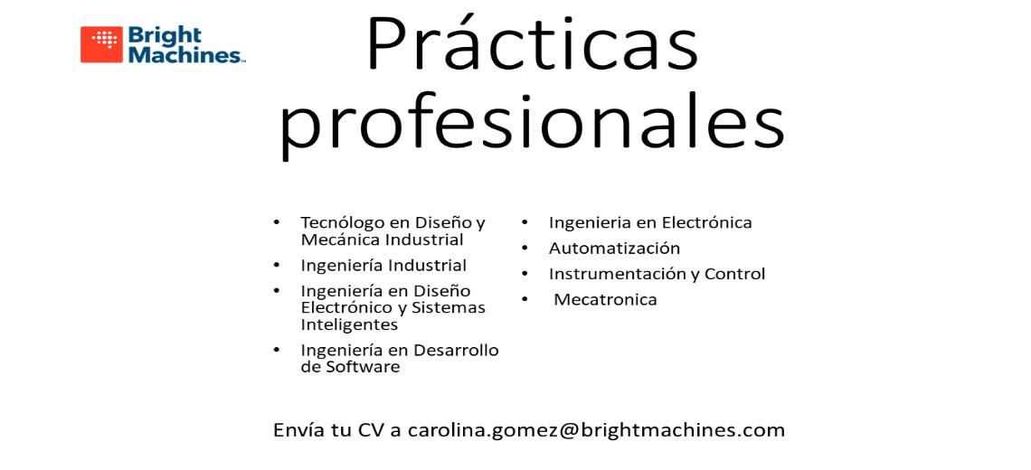 Practicas/Estadias Bright Machines